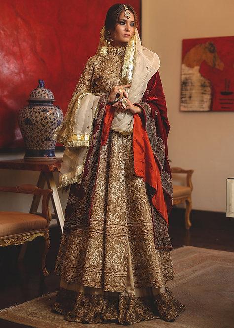 Gold Organza Bridal - HSY