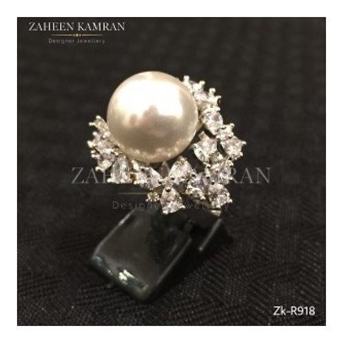 Adorable Pearl Zircon Ring