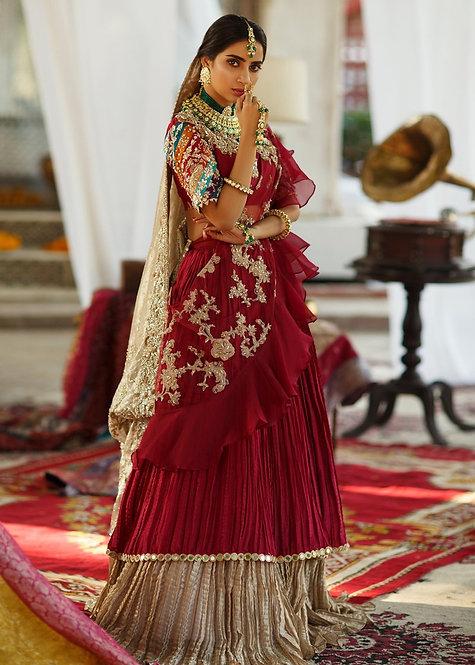 Red Saree - Zainab Salman