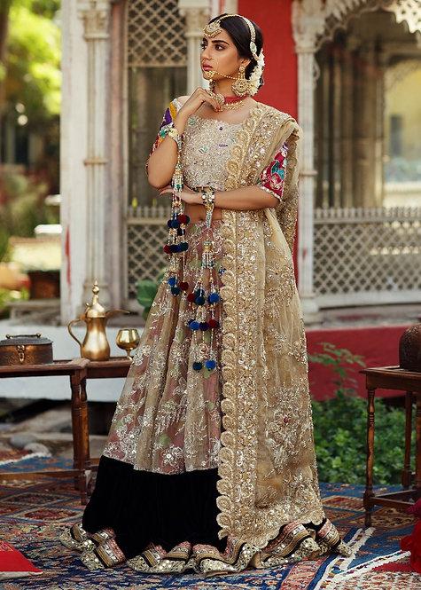 Gold Lehnga Choli - Zainab Salman