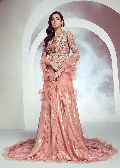 Peach Ruffle - Shiza Hassan