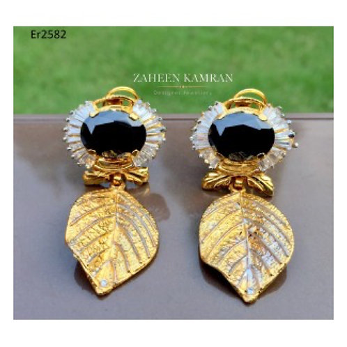 Agate Leaf Earings