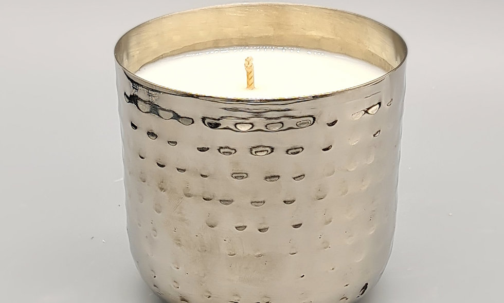 Iset Luxury Polished Silver Candle in Presentation Box 220g