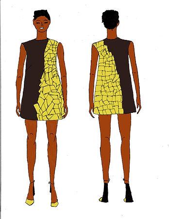 Experimental color fashion illustration.