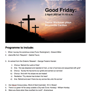 A musical meditation for Good Friday: