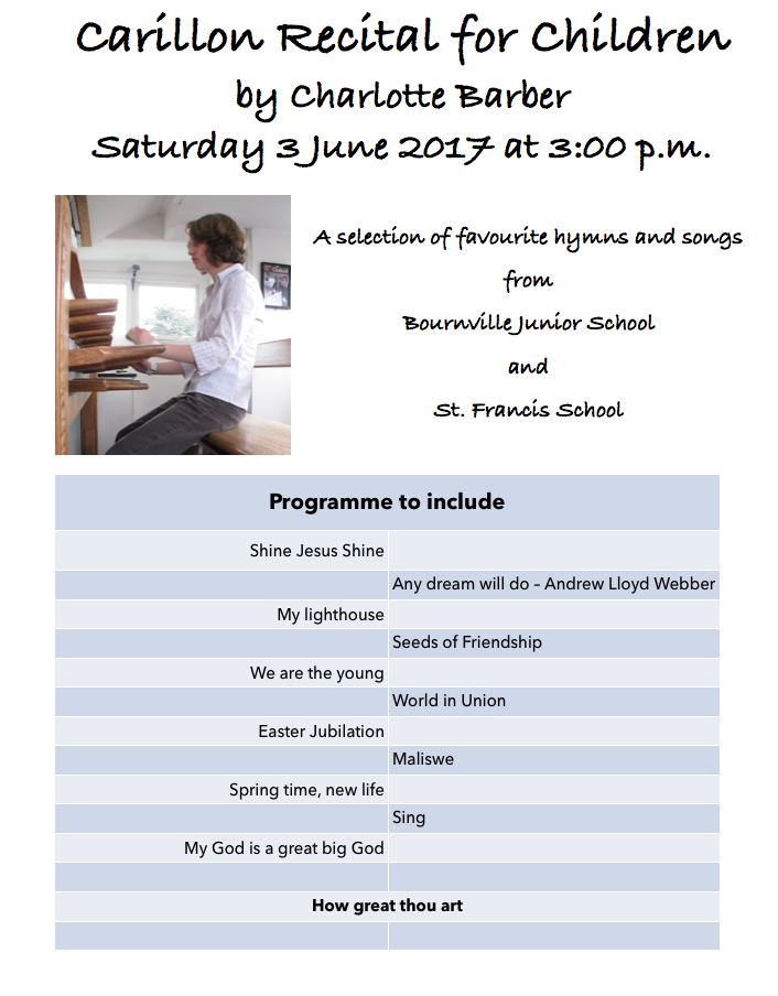A recital to include children's favourites played by Charlotte Barber