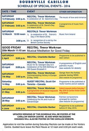 Carillon Recital Programme 2016 p1