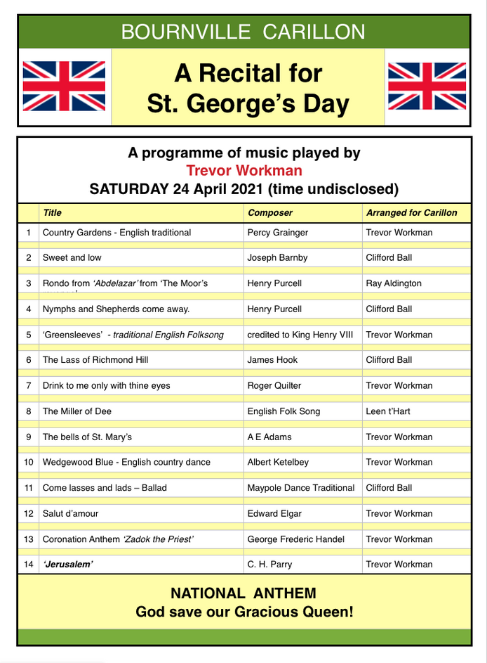 A Selection of Patriotic Music for St. Georges Day: