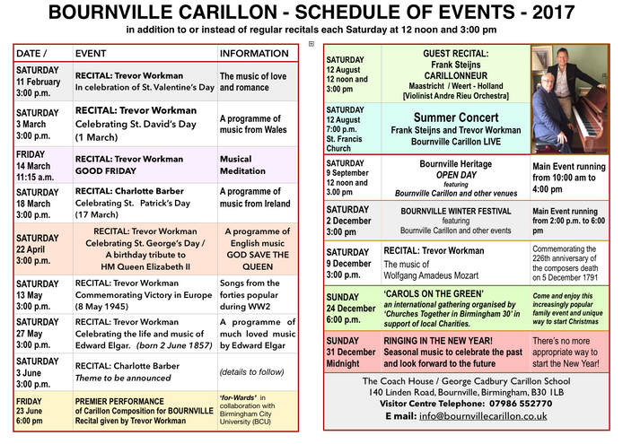Forthcoming Events 2017