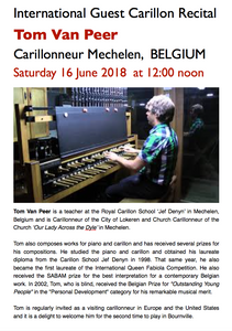 EVENT 1 - SOLO CARILLON RECITAL: