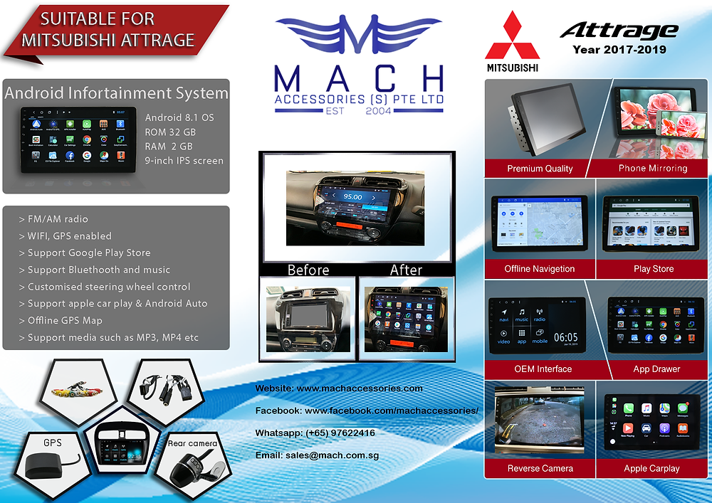 All New Attrage Multimedia Infotainment