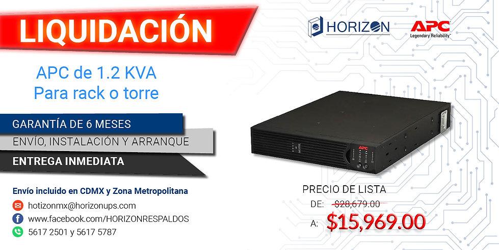 Promoción UPS APC 1.2kva