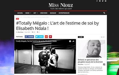 Miss news totally megalo elisabeth ndala