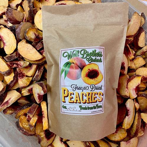 Freeze-Dried Peach Slices (8oz)