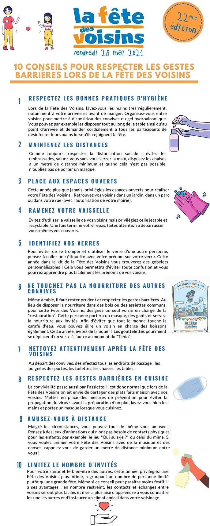 10 Conseils gestes barrières 28 mai 2021