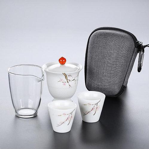 Набор чайной посуды в футляре (СКИДКА 15% Не комплект)