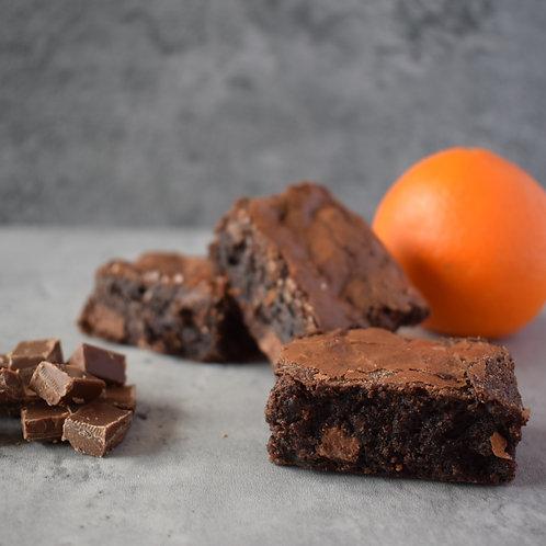 Chocolate Orange Brownie Slices