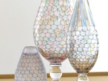 【吉村桂子 ガラス展-大地の風- 】より花器