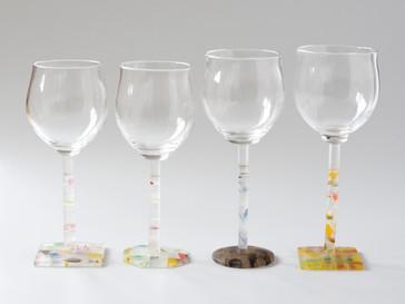 【佐野猛・佐野曜子 展】より、ワイングラス