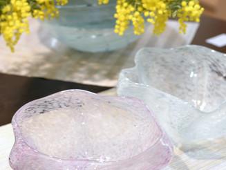 【杉江智-クリスタルガラスの器-展】より、彩りのうつわ