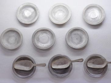 【福岡彩子 展 】銀彩スプーン,豆皿