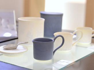 【福岡彩子 展 】milk pitcher,canister