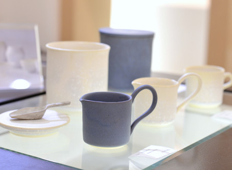【福岡彩子 展 】milk pitcher,canister