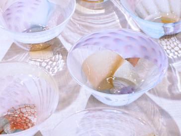 【吉村桂子 ガラス展-大地の風- 】ツギハギ小鉢
