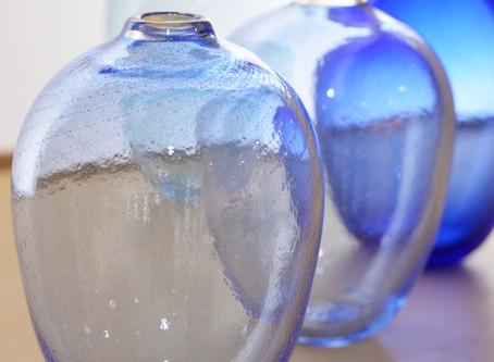 【 中村真紀 展 】青の花器