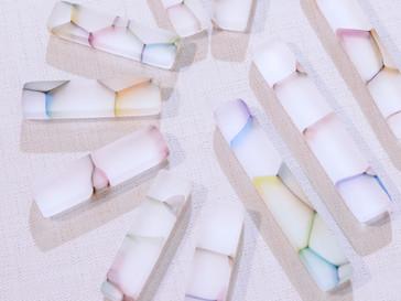 【吉村桂子 ガラス展-大地の風- 】虹のはしおき・カトラリーレスト