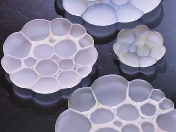 【吉村桂子 ガラス展-大地の風- 】陽だまり皿、虹の皿