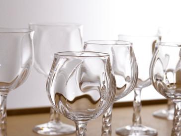 【杉江智 クリスタルガラスの器 展 】よりワイングラス