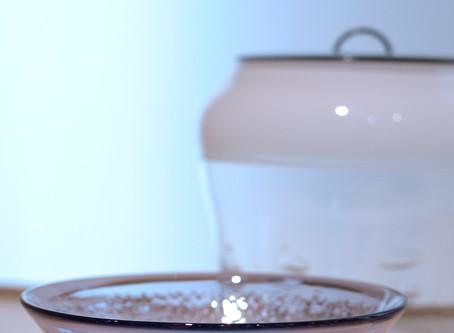 【 中村真紀 展 】よりガラス茶道具