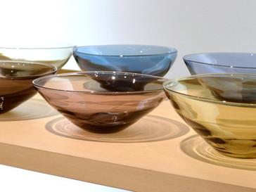 【東敬恭展】秋色ガラスの器や花器など