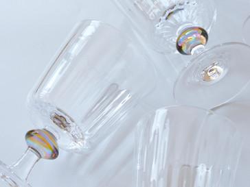 【津坂陽介・久保裕子 -日の出ガラス工芸社- 展】より、ゴブレットグラス