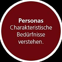 Personas. Charakteristische Bedürfnisse
