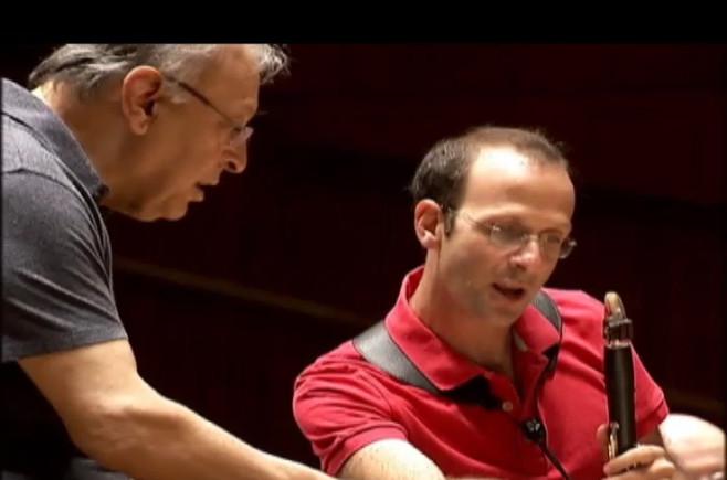 Rehearsing with Maestro Zubin Mehta