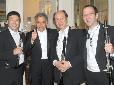 With Zubin Mehta, Luis Rossi & Yevgeny Yehudin