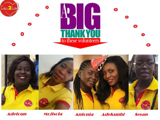 BIG THANK YOU TO THESE VOLUNTEERS