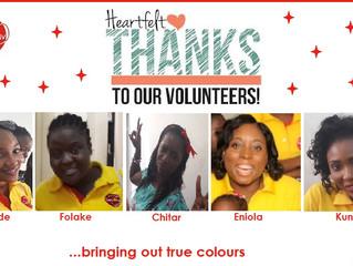HEARTFELT THANKS TO OUR WEEK 3 VOLUNTEERS