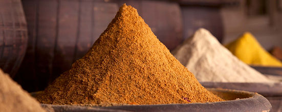 Piles of exotic spices