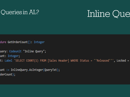 Inline Query | SQL like Queries in Business Central