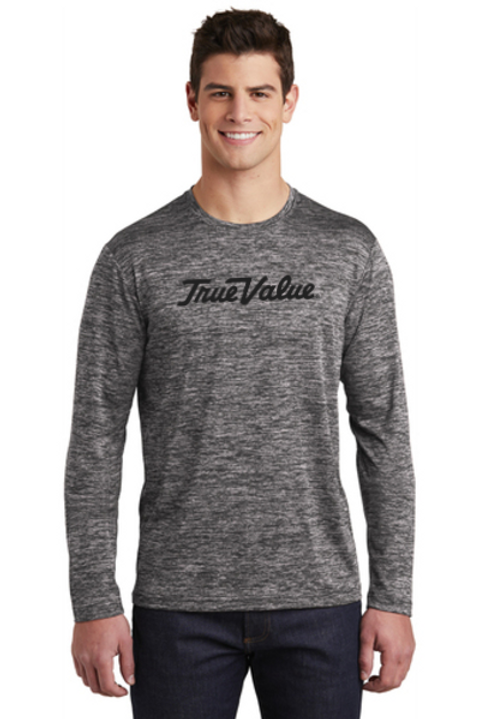 PosiCharge ® Long Sleeve Electric Heather Tee