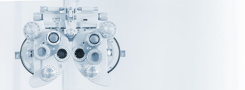 Phoropter eyesight measurement testing machine, Eye health check and ophthalmology concept