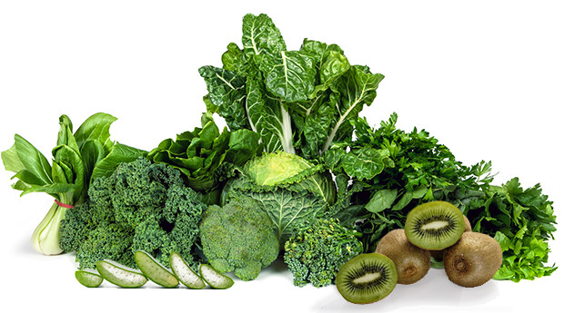 Groene groenten en fruit