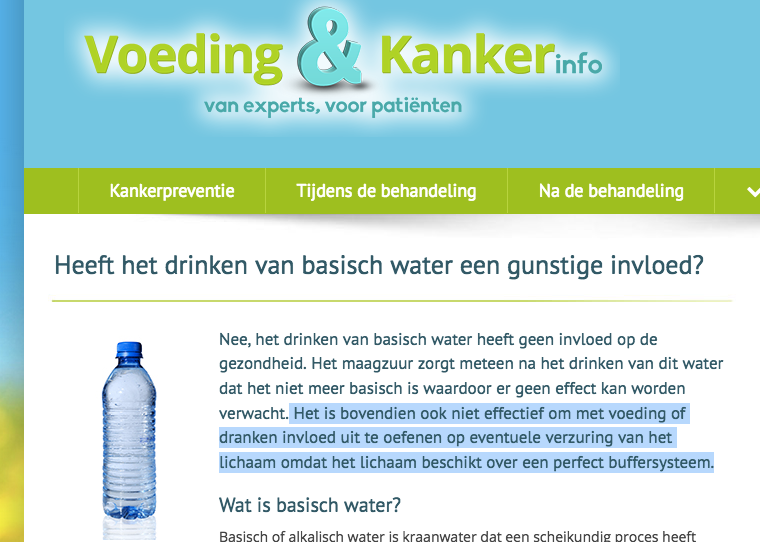 Voedingenkankerinfo.nl misleid