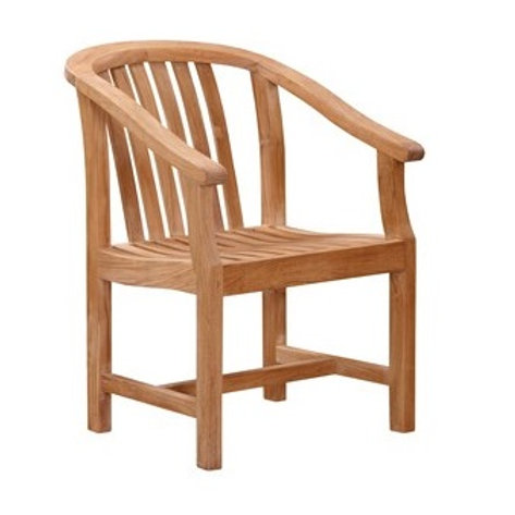 Curved Back Arm Chair