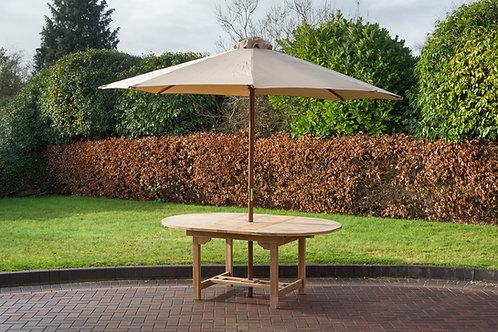 Natural 3 metre parasol