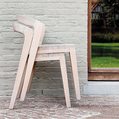 Curved Back Stacking Chair