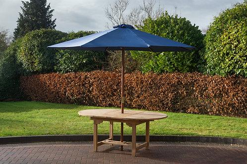 Blue 3 metre parasol